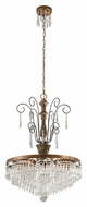 Troy F3776 Le Marais Gold Leaf Finish 37.25  Tall Chandelier Lighting