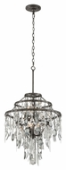 Troy F3806 Bistro Graphite Finish with Antique Pewter Flatware 25  Wide Chandelier Light