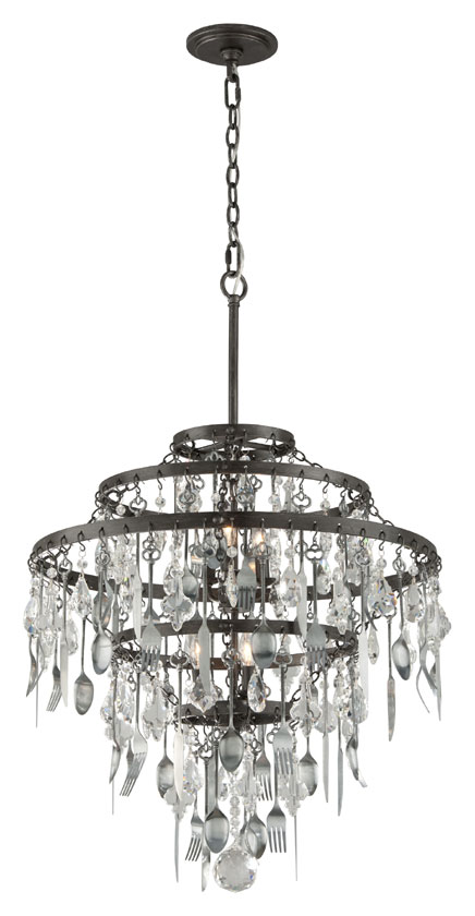 Troy f3807 bistro graphite finish with antique pewter flatware 275 troy f3807 bistro graphite finish with antique pewter flatware 275nbsp tall chandelier lighting loading zoom aloadofball Images