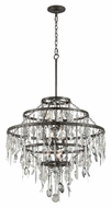 Troy F3809 Bistro Graphite Finish with Antique Pewter Flatware 30.25  Wide Lighting Chandelier