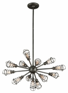 Troy F3815 Conduit Old Silver Finish 32  Wide Chandelier Lamp