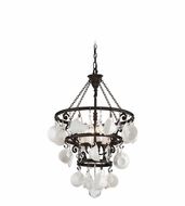 Troy F3824 Barista Contemporary Vintage Bronze Finish 33.5  Tall Chandelier Light