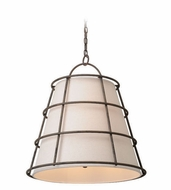 Troy F3904 Habitat Liberty Rust Finish 25.5  Tall Hanging Light Fixture