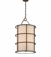 Troy F3916 Haven Liberty Rust Finish 18  Wide Drop Ceiling Light Fixture