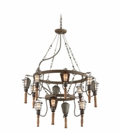 Troy F4177 Yardhouse Retro 36.75  Wide Chandelier Light