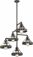 Troy F4247 Canary Wharf Nautical Burnt Sienna Chandelier Lighting