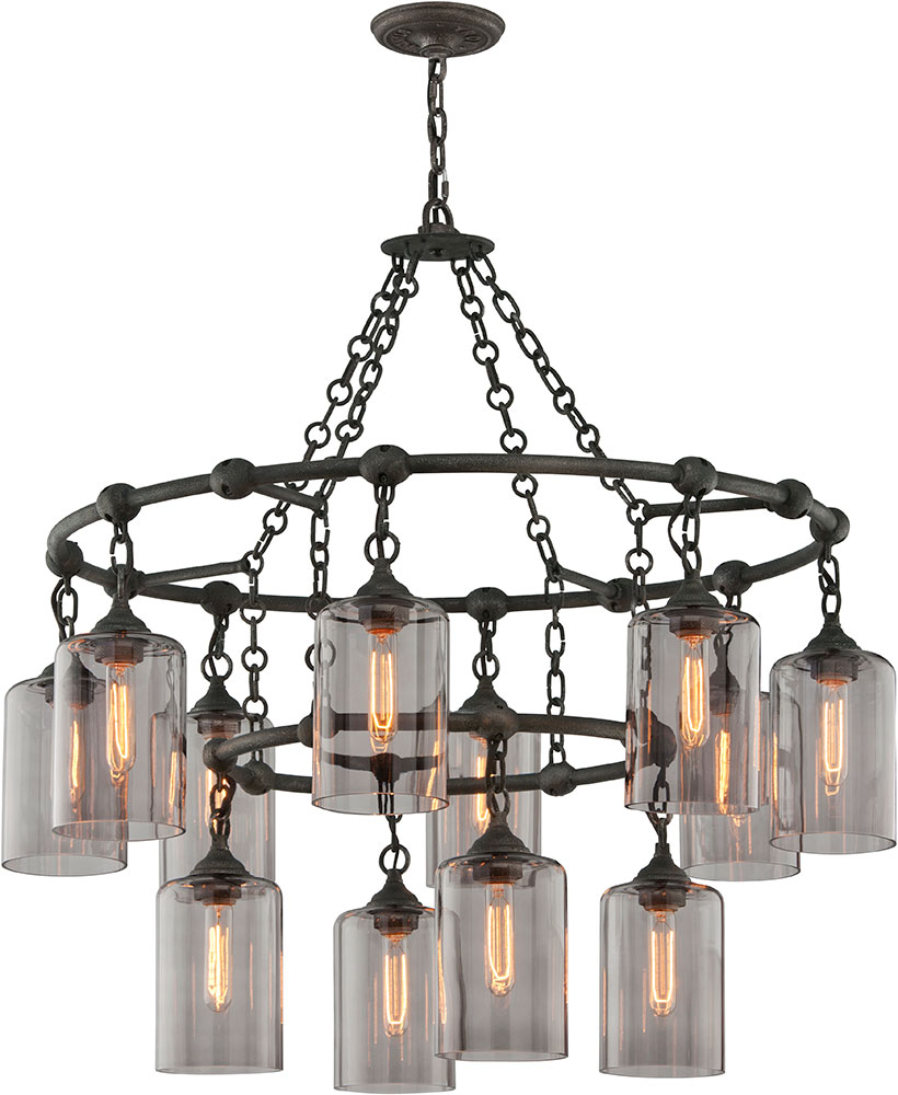 Troy f4425 gotham hand worked wrought iron chandelier lamp tro f4425 troy f4425 gotham hand worked wrought iron chandelier lamp loading zoom arubaitofo Image collections