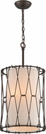 Troy F4463 Buxton Hand Worked Wrought Iron Drum Pendant Lighting