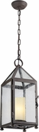 Troy F4477 Hidden Hills Traditional Solid Aluminum Exterior Mini Hanging Lamp