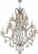 Troy F4577 Montparnasse Hand Worked Wrought Iron Lighting Chandelier