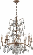 Troy F4745 Siena Hand Worked Iron And Cast Aluminum Chandelier Light