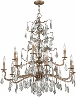 Troy F4746 Siena Hand Worked Iron And Cast Aluminum Chandelier Lighting
