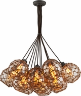 Troy F4756 Outer Banks Hand Worked Wrought Iron Multi Drop Lighting