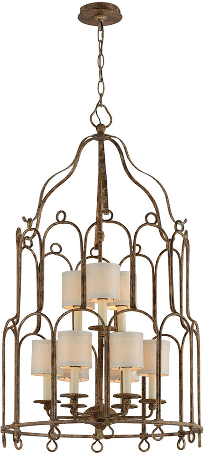 Large Foyer Fixture : Troy f carousel pc bronze large foyer light fixture