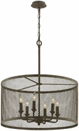 Troy F4848 Village Tavern Old Tavern Iron Drum Hanging Lamp