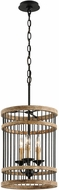 Troy F4855 Vineyard Rusty Iron Sal Wood 13.5  Drum Hanging Light