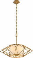 Troy F4864 Calliope Contemporary Rustic Gold Leaf Medium Pendant Hanging Light