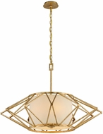 Troy F4865 Calliope Modern Rustic Gold Leaf Large Hanging Light Fixture