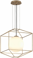 Troy F5214 Silhouette Contemporary Gold Leaf Medium Drop Ceiling Lighting