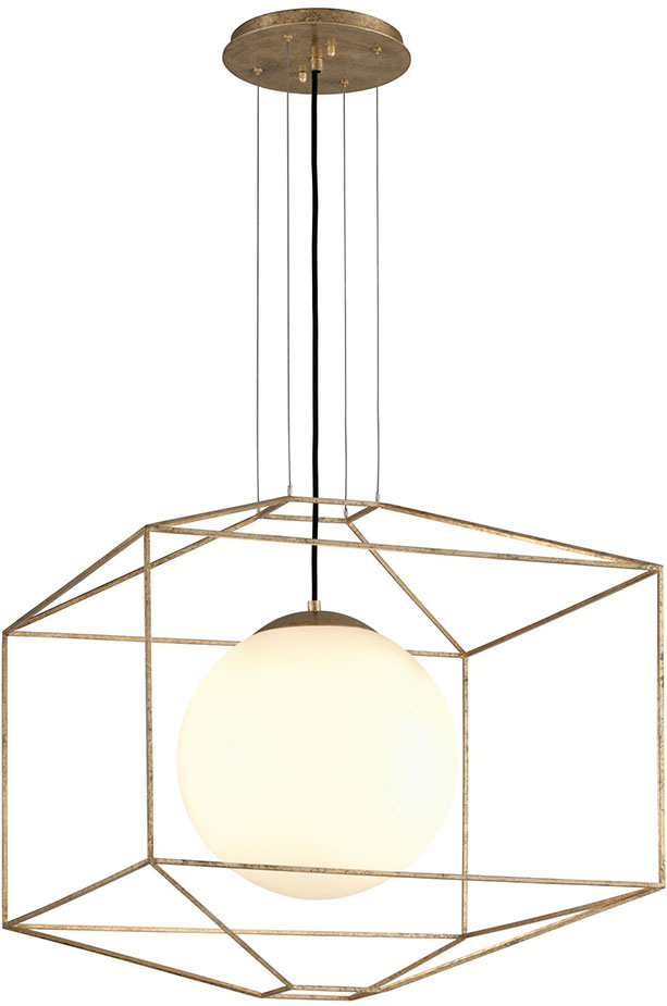 Troy F5215 Silhouette Modern Gold Leaf Large Ceiling Light
