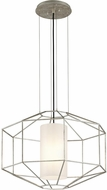 Troy F5256 Silhouette Contemporary Silver Leaf Hanging Pendant Lighting