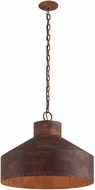 Troy F5264 Rise & Shine Retro Rust Patina Medium Pendant Hanging Light
