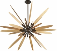 Troy F5278 Dragonfly Modern Bronze With Satin Leaf Large Ceiling Light Pendant