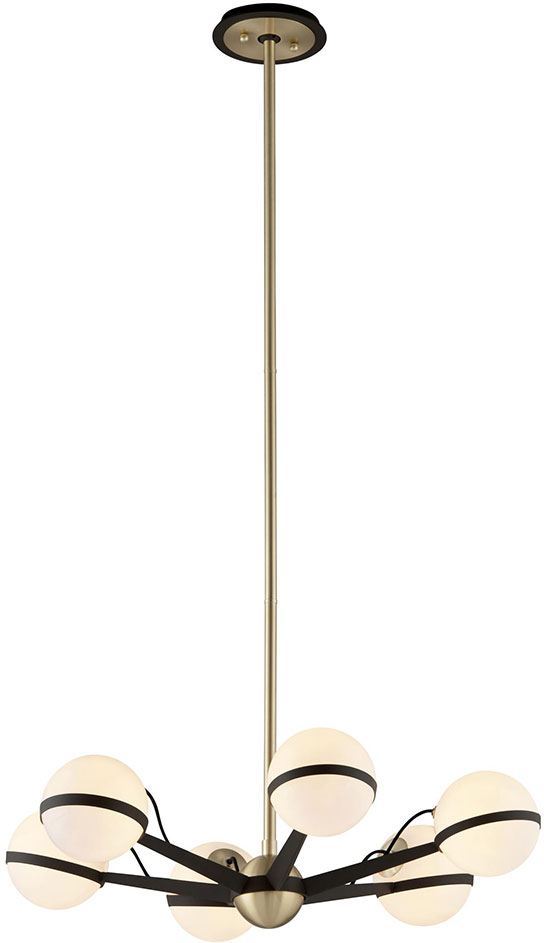 Troy F5304 Ace Modern Textured Bronze With Brushed Brass Halogen ...
