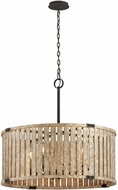 Troy F5337 Stix Antique Gold 31.875  Drum Drop Lighting Fixture
