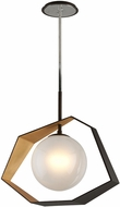 Troy F5526 Origami Contemporary Bronze With Gold Leaf LED Hanging Lamp