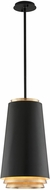Troy F5542 Fahrenheit Contemporary Textured Black W/Gold Leaf Accents LED Pendant Hanging Light
