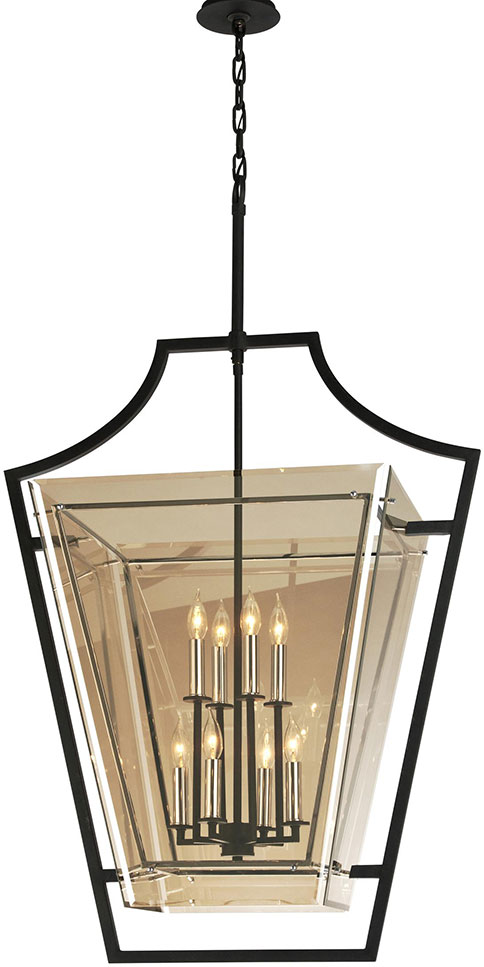 Troy F5598 Domain Hand-Worked Iron With Polished Chrome Detail Large Foyer Lighting Fixture. Loading zoom  sc 1 st  Affordable L&s & Troy F5598 Domain Hand-Worked Iron With Polished Chrome Detail ... azcodes.com