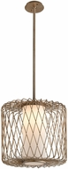 Troy F5634 Hideaway Modern Champagne Leaf LED Medium Pendant Lamp