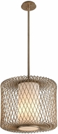 Troy F5636 Hideaway Contemporary Champagne Leaf LED Large Hanging Lamp