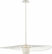 Troy F5644 Tides Modern Textured White Medium Hanging Light