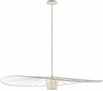 Troy F5646 Tides Contemporary Textured White Large Pendant