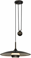 Troy F5865 Alchemy Modern Vintage Bronze And Champagne Silver Leaf LED 24  Pendant Lamp