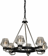 Troy F5886 Faction Contemporary Forged Iron And Polished Nickel Chandelier Light