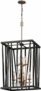Troy F5898 Bastille Contemporary Pompeii Silver And Silver Leaf 21  Foyer Lighting