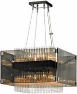 Troy F5905 Apollo Contemporary Dark Bronze Polished Chrome 20.5  Hanging Pendant Lighting