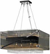 Troy F5906 Apollo Modern Dark Bronze Polished Chrome 26.5  Hanging Pendant Light