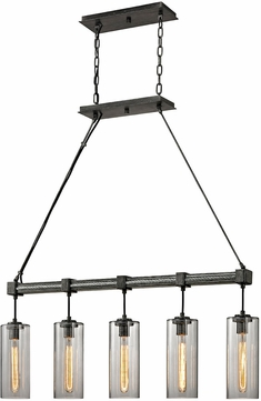 Troy F5915 Union Square Contemporary Graphite Kitchen Island Lighting