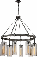 Troy F5918 Union Square Contemporary Graphite Chandelier Lamp