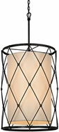 Troy F5948 Palisade Modern Aged Pewter Drum Drop Ceiling Lighting