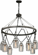 Troy F5998 Citizen Modern Graphite And Polished Nickel Chandelier Light