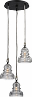 Troy F6053 Menlo Park Contemporary Deep Bronze Multi Pendant Light Fixture
