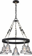Troy F6055 Menlo Park Modern Deep Bronze 26  Chandelier Lighting