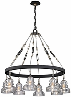 Troy F6056 Menlo Park Contemporary Deep Bronze 33  Lighting Chandelier