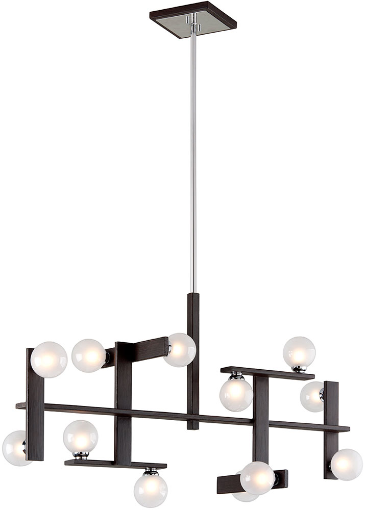 Troy F6075 Network Modern Forest Bronze And Polished Chrome Xenon ...