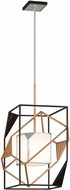 Troy F6085 Cubist Contemporary Bronze w/ Gold Leaf And Polished Stainless Foyer Light Fixture